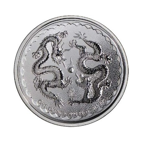 1 Oz Silver Niue Double Dragon 2018 2 Goldsilver Be