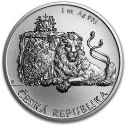 1 oz Silver Niue Czech Lion 2017