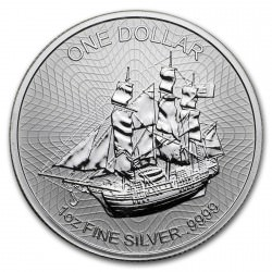 1 oz silver COOK ISLANDS 2018