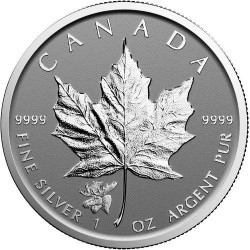 1oz silver Maple leaf 2017 privy Moose $5