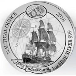 1 oz SILVER RWANDA NAUTICAL HMS Endeavour 2018 PP + COA Pre-sale