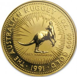 1 oz gold NUGGET 1991 KANGAROO