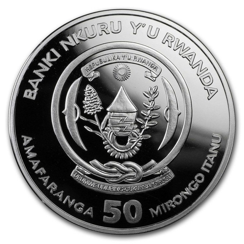 1 Oz Silver Rwanda Rooster 2017 Proof Goldsilver Be