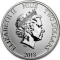 1 oz silver Niue Double Dragon 2018 $2