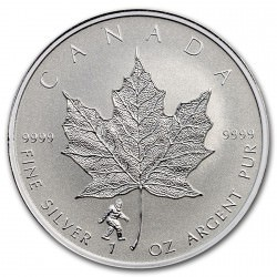 1 oz Silver Maple Leaf 2016 Bigfoot Privy