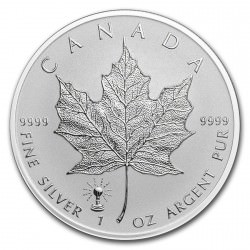 1 oz silver MAPLE LEAF 2018 Privy Edisson Bulb