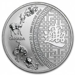 1 oz silver Maple Leaf 2014 Five Blessings