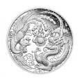 1 oz silver DRAGON & PHOENIX 2018 Proof, box + coa