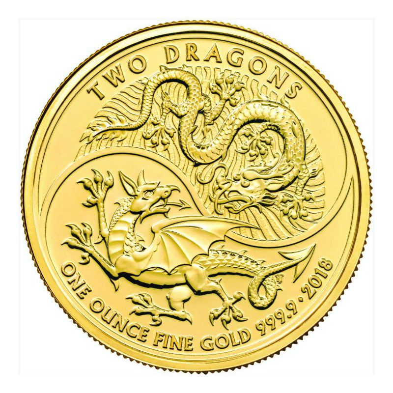 1 Oz Gold 2 Dragons 2018 U K 163 100 Goldsilver Be