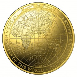 1 oz gold AUSTRALIA 2018 A New Map of the World 0.9999 $100 PROOF