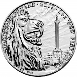 1 oz silver TRAFALGAR SQUARE 2018 - Landmarks of Britain
