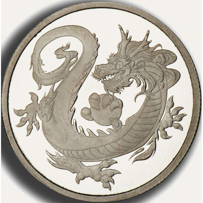 1 Oz Rhodium Dragon 2018 Tuvalu 100 Goldsilver Be