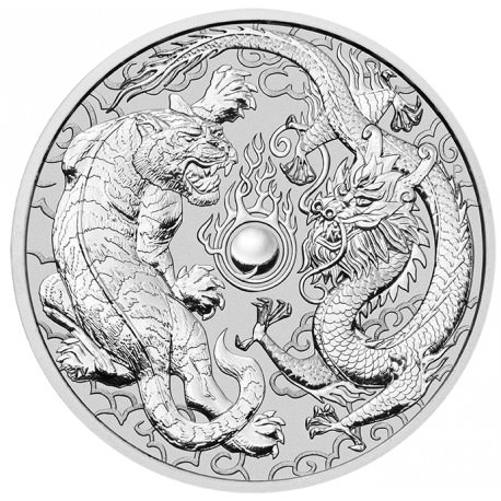 1 Oz Silver Dragon Amp Tiger 2018 Goldsilver Be