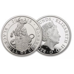 2 oz silver QUEEN'S BEAST 2018 BLACK BULL OF CLARENCE