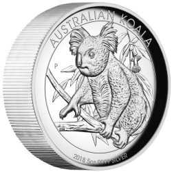 Australian Koala 2018 5oz Silver Proof High Relief Coin - Mintage 500