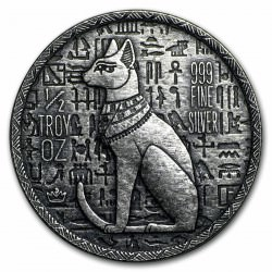 1/2 troy oz silver EGYPTIAN CAT BASTET