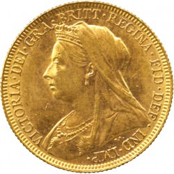 FULL GOLD SOVEREIGN 1900