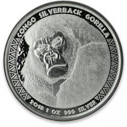 1 oz silver GORILLA CONGO 2018