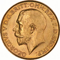 FULL GOLD SOVEREIGN 1915