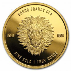 1 oz gold Mandala Lion 2018 Chad 50 000 cfa