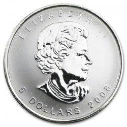 1 oz silver MAPLE LEAF 2008
