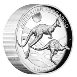 Australian Kangaroo 2018 5oz Silver Proof High Relief Coin - Mintage 500