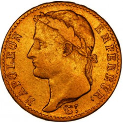GOLD 20 francs or Napoleon 1 AN12