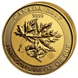 CANADA 1,5 oz gold Superleafs 2017 $150