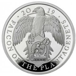 1 oz silver QUEEN'S BEAST 2019 The FALCON of the Plantagenets PROOF