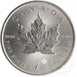1 oz silver MAPLE LEAF 2021 $5