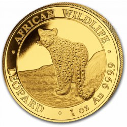 GOLD 1 oz LEOPARD 2018 SOMALIA 1000 Shillings