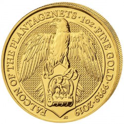 1 oz gold QUEEN'S BEAST 2019 The FALCON of the Plantagenets