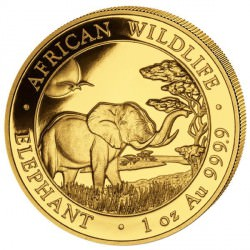 GOLD 1 oz ELEPHANT 2019 SOMALIA