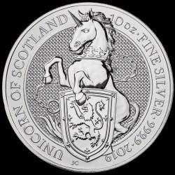 10 oz silver Queen's Beast 2019 UNICORN -