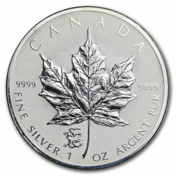 1 oz silver Maple leaf 2012 Privy Dragon