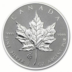 1 oz silver Maple Leaf 2013 Privy Snake