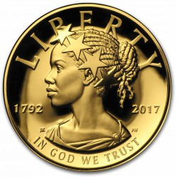 1 oz gold American Liberty Gold Proof 2017 High Relief Box + Coa