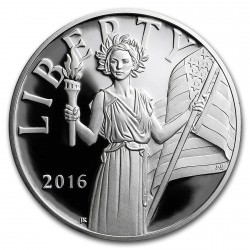 1 oz silver American Liberty Silver Medal Proof 2016 Box + Coa