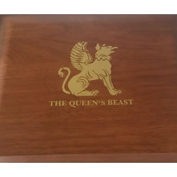 2 oz silver QUEEN'S BEAST SERIES CASE
