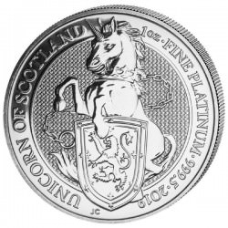 1 oz PLATINIUM PLATINUM QUEEN'S BEAST £100 UNICORN