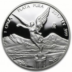 MEXICO 1 oz silver LIBERTAD 2017 PROOF