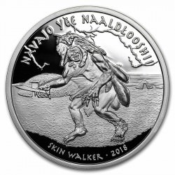 1 oz silver NAVAJO 2018 Skin Walker Proof