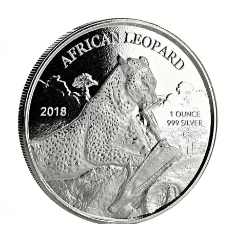 1 oz silver 5 CEDIS Ghana LEOPARD 2017