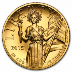 GOLD 1 oz Lady Liberty Gold 2015 - hr - Coa + Box