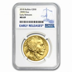 GOLD 1 oz GOLD US BUFFALO 2018 - NGC MS-69 er
