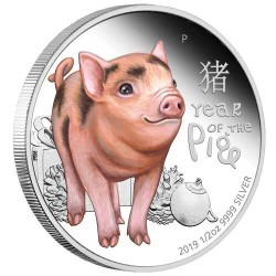 Baby Pig 2019 1/2oz Silver Proof Coin