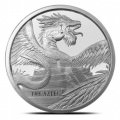 1 troy oz silver AZTEC DRAGON