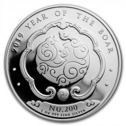1 oz silver KINGDOM OF BHUTAN 2019 PIG