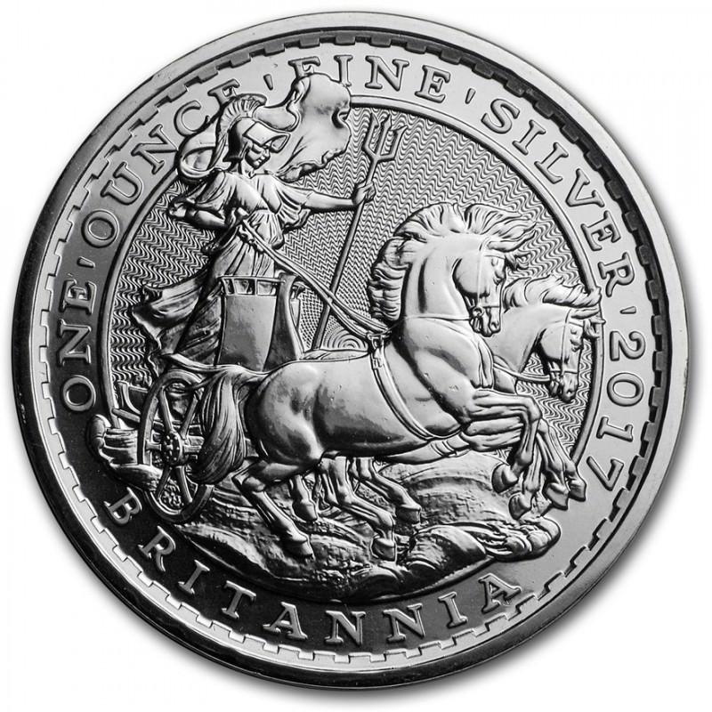 1 Oz Silver Britannia 20th Anniversary Chariot 2017
