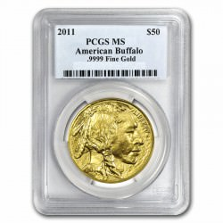 1 oz GOLD BUFFALO 2011 PCGS MS-69